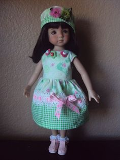 """BUNNY IN THE GREEN DRESS FOR EFFNER LITTLE DARLING/14""""BETSY McCALL BY CGREYROMA"""