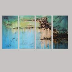 Handgeschilderde olieverfschilderijen moderne Abstracte met gestrekte frame set van 4   – EUR € 112.19