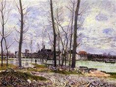 Flood at Moret sur Loing - Alfred Sisley