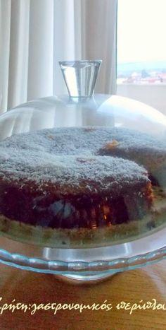 Σιροπιαστό κέικ καρύδας χωρίς αυγά και βούτυρο - cretangastronomy.gr Food And Drink, Pudding, Sugar, Cake, Desserts, Recipes, Best Cheesecake, Rezepte, Tailgate Desserts