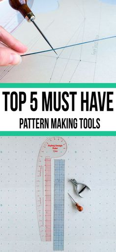 op 5 MUST HAVE tools and supplies to get started drafting patterns today!