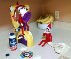 Elf on the Shelf Ideas - Toilet Paper Snowman Elf