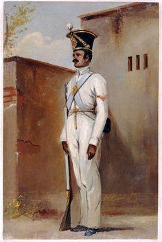 British; 66th Bengal Native Infantry (Volunteers), Lance-Naik,1842