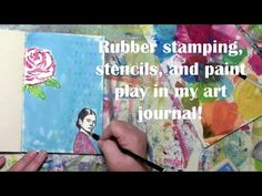 Playing with Frida in my Art Journal with Carolyn Dube - YouTube