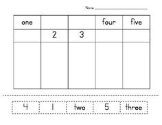 Number Word Matching and Drawing Quantities