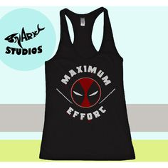 Marvel Deadpool Maximum Effort Womens Fitness Tank Top Womens Yoga... (24 AUD) ❤ liked on Polyvore featuring activewear, activewear tops, black, tanks, tops, women's clothing, v neck shirts, vinyl shirt, burnout shirts and long v neck shirts