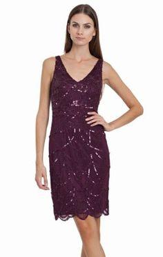 Embellished V-Neckline Dress by JS Collections 864212