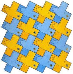 Birds 5 - Greek Cross - David Bailey's World of Escher-like Tessellations