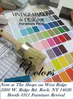 Hand Painted VmD Color Chart Colors  Colour Chart Chalk