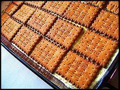 Το γλυκό της τεμπέλας Greek Sweets, Greek Desserts, Cold Desserts, Party Desserts, Greek Recipes, No Bake Desserts, Cookbook Recipes, Sweets Recipes, Cooking Recipes