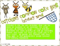 7 games that align to the First Grade Common Core Language Arts Standards.  They would fit perfectly into stations, centers or the Daily 5.  $5.00