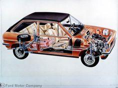 1976- The New Fiesta unveiled in Cutaway Form. #ford #fiesta #fordfiesta #car #history