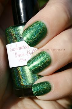 Enchanted Polish Green Goblin #beauty #nails #manicure #nailpolish #indie #holographic