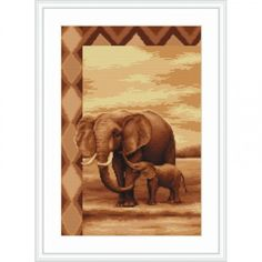 Elephants Cross Stitch kit Cross Stitch Set Embroidery Kit Luca-S DIY
