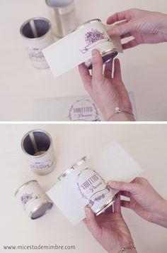 Mi cesta de mimbre: DIY: de latas de conservas a jarrones del campo.