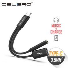 Expressive Usb-c To 3.5 Aux Audio Cable 2in1 Usb Type C To 3.5mm Jack Audio Splitter Usb C Earphone Cable Charging Adapter For Xiaomi 6 Digital Cables