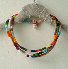 Product photo and display idea. Great way of displaying necklaces.