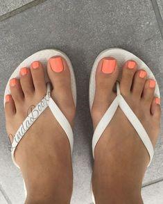 My view really feelin this neon orange sexy feet sexy feet, Neon Pedicure, Orange Toe Nails, Neon Toe Nails, Pretty Toe Nails, Pedicure Colors, Toe Nail Color, Summer Toe Nails, Cute Toe Nails, Toenails
