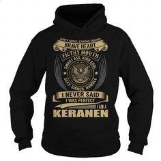 KERANEN Last Name, Surname T-Shirt - #birthday present for women #cool birthday present. MORE INFO => https://www.sunfrog.com/Names/KERANEN-Last-Name-Surname-T-Shirt-Black-Hoodie.html?60505