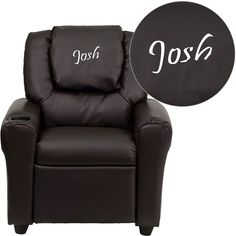 Personalized Brn Kids Recliner