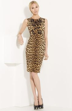 Blumarine Embellished Leopard Print Dress | Nordstrom - StyleSays