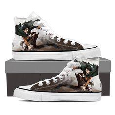 Converse Unisex - Captain Levi Attack On Titan Shoes