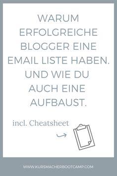 Warum du für dein Blog & online Business eine Email Liste brauchst und wie genau du eine aufbaust.