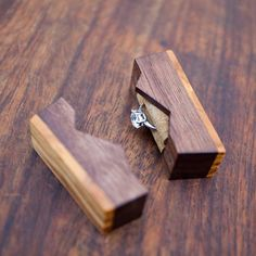 """Ring box """"The Mountain"""", made from black walnut and olive wood - engagement ring box - proposal ring box - Made to order Woodworking Furniture, Woodworking Projects Plans, Diy Woodworking, Woodworking Organization, Woodworking Quotes, Youtube Woodworking, Woodworking Equipment, Woodworking Patterns, Woodworking Machinery"""