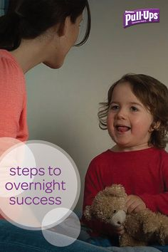 Your child may be a pro at staying dry during the day, but nighttime can be a whole different story. Don't get discouraged—these steps to overnight success from Pull-Ups® will have your little one staying dry at bedtime in no time! Just be sure to stay patient and encourage him every step of the way.