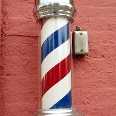 A barber poles tells you whether or not the barber shop is open.