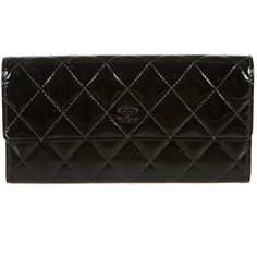 Pre-owned Chanel Wallet ($896) ❤ liked on Polyvore featuring bags, wallets, apparel & accessories, handbags, wallets & cases, wallets & money clips, chanel bags, coin bag, snap bag and patent wallet