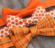 Boys Orange Bow Tie Halloween Tie by littlevys on Etsy