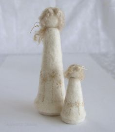Needle felted Mother and Daughter Felted Doll by LambertsLambs