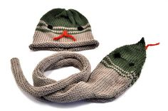 Organic Cotton Snake Hat and Scarf