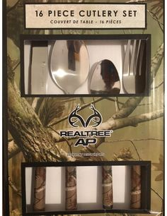 Realtree Camo 16 Piece Cutlery Set