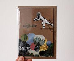 Grafik Grußkarte Illustrierte Klappkarte Karussell von nininotschka, €3,00