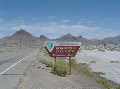 Bonneville salt flats - Utah 2 more weeks till I will see this sign again!!! Salt fever!