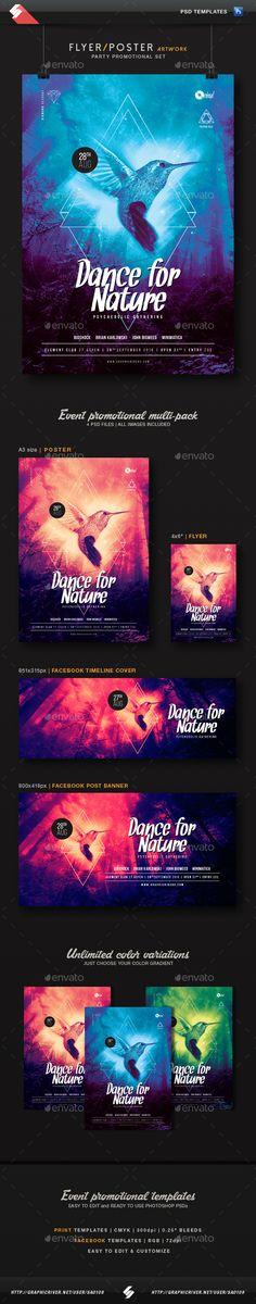 Dance For Nature - Party Promotional Templates Set