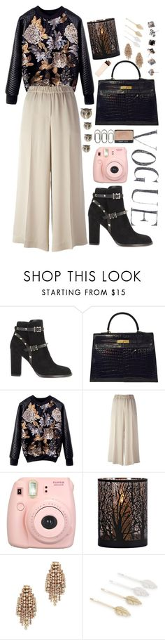 """""""Untitled #793"""" by lbenigni ❤ liked on Polyvore featuring Valentino, Hermès, Theory, Fujifilm, Madewell, Clips, Elizabeth Cole and MANGO"""