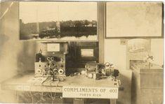 Estacion de Radio 401 en Puerto Rico, año 1923.