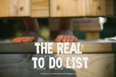 finding joy: the real to-do list