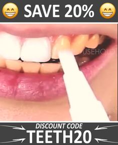 The Quickest Way To Get That Millionaire Smile This Teeth Whitening Pen removes all unwanted stains and makes your teeth white as a pearl and its great for those with sensitive teeth who want a gentler teeth whitening Our formula is vegan and glu - p Zoom Teeth Whitening, Charcoal Teeth Whitening, Natural Teeth Whitening, Whitening Kit, Coconut Activated Charcoal, Healthy Teeth, White Teeth, Health And Beauty, Pearl