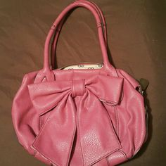 Jessica Simpson bow purse Pink,  clean,  used once Jessica Simpson Bags Shoulder Bags
