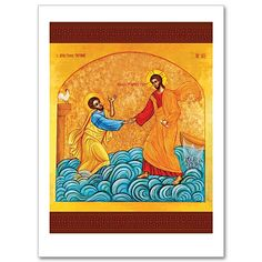 """Catholic Icon Cards Like """"Peter Do You Love Me"""" Feature Powerful Images that Retell Stories from the Bible and Encourage Us in the Faith. www.printeryhouse.org"""