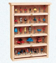 a Router Bit Cabinet with Pull Out Shelves Build a Router Bit Cabinet with Pull Out Shelves - Free Woodworking Plan. Build a Router Bit Cabinet with Pull Out Shelves - Free Woodworking Plan. Rockler Woodworking, Learn Woodworking, Woodworking Workshop, Woodworking Supplies, Popular Woodworking, Woodworking Projects, Woodworking Basics, Woodworking Furniture, Woodworking Magazine