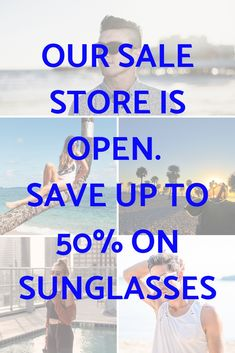 Our sunglasses sale section is now open