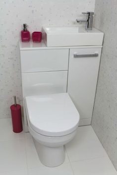 New Bathroom Shower Tub Space Saving Ideas Tiny Bathrooms, Tiny House Bathroom, Bathroom Toilets, Bathroom Small, Compact Bathroom, Bathroom Pink, Cloakroom Toilet Small, Attic Bathroom, Master Bathroom