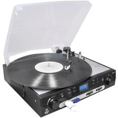 USB Turntable with Direct-to-Digital USB/SD(TM) Card Encoder