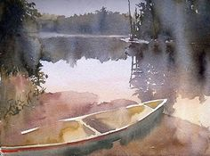 The Stillpoint by Sarah Yeoman Watercolor ~ 12 x 16