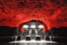 Escape from hell - #stockholm - So this is most probably the most famous of the underground stations in Stockholm.  Most people describe it as the descend into hell.  Let me know what you guys think.